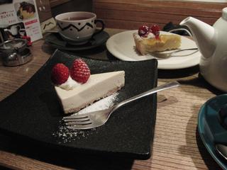 ほうじ茶チーズケーキ美味しかった!!