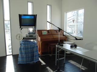 録音機材の青いカバー